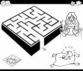 Maze Activity Game With Cinderella poster