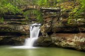 foto of old bridge  - Upper Falls at Old Man - JPG