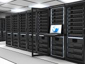 stock photo of intranet  - Modern Server room  - JPG