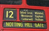 Red Bus Destination Panel poster