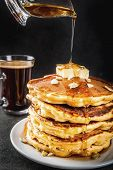Pumpkin Pancakes With Maple Syrup poster