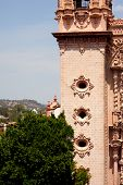 foto of taxco  - Church tower in mexican town of taxco - JPG