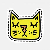 Isolated vector illustration in patch style. Great design for embroidery, sticker or pin.