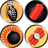 stock photo of time-bomb  - Icons that go BOOM - JPG