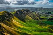 The Light And Shade On The Green Slopes Of Te Mata Peak In Hawkes Bay poster