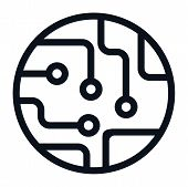 Circuit Board Icon Isolated On White Background. Circuit Board Icon In Trendy Design Style. Circuit  poster