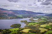 A View Of Derwentwater From Walla Crag Near To Keswick In The Lake District England poster