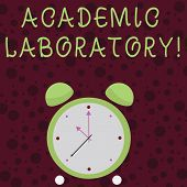 Word Writing Text Academic Laboratory. Business Concept For Where Students Can Go To Receive Academi poster