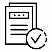 Marked Documents Icon. Outline Marked Documents Vector Icon For Web Design Isolated On White Backgro poster