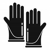 Forensic Lab Gloves Icon. Simple Illustration Of Forensic Lab Gloves Icon For Web Design Isolated On poster