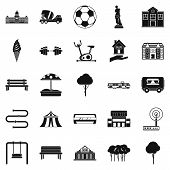 Borough Icons Set. Simple Set Of 25 Borough Icons For Web Isolated On White Background poster