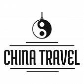 China Tourism Logo. Simple Illustration Of China Tourism Logo For Web poster