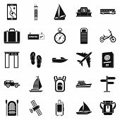 Voyage Spot Icons Set. Simple Set Of 25 Voyage Spot Icons For Web Isolated On White Background poster