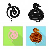 Vector Illustration Of Mammal And Danger Sign. Collection Of Mammal And Medicine Vector Icon For Sto poster