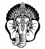 Lord Ganesha. Illustration Of Lord Ganpati Background For Ganesh Chaturthi Festival Of India poster