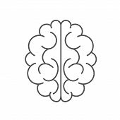 Brain Icon Isolated On White Background. Brain Icon In Trendy Design Style. Brain Vector Icon Modern poster