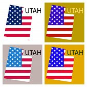 Map Of Utah Background, Cartography, Geography, Graphic, Icon, Nation, National, Shape, Texture, Wor poster