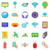 Website Creation Icons Set. Cartoon Set Of 25 Website Creation Icons For Web Isolated On White Backg poster
