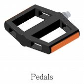 Pedal Bike Icon. Isometric Illustration Of Pedal Bike Icon For Web poster