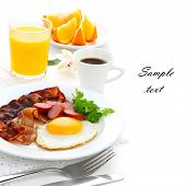 picture of bacon  - Breakfast with bacon - JPG