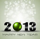 2013 Ecology Green Themed Greetings for New Year Posters with a glitter background
