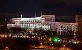 stock photo of dynamo  - Night view of Dynamo stadium and Government House in Kyiv Ukraine - JPG
