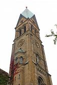 foto of evangelism  - Tower of Evangelical South Parish Church of PeaceStuttgart Germany - JPG
