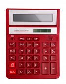 stock photo of subtraction  - Red calculator  - JPG