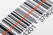 picture of barcode  - Close - JPG