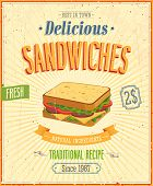 picture of sandwich  - Vintage Sandwiches Poster - JPG