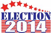 stock photo of senators  - Election 2014 illustration with stars and stripes in red - JPG