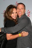 LOS ANGELES - AUG 24:  Catherine Bach, Sean Carrigan at the Young & Restless Fan Club Dinner at the