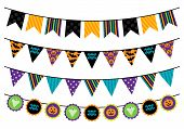foto of ghoul  - Vector Collection of Halloween Themed Bunting Flags - JPG