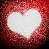 pic of airbrush  - spray background with love - JPG