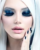 pic of makeover  - Beauty Fashion Girl black and white style - JPG