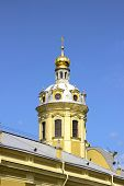 Church Spire In The Peter And Paul Fortress In St. Petersburg