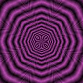 image of octagon  - Digital abstract fractal design with an optically challenging octagonal ring design in purple - JPG