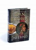Inferno Written By Dan Brown Isolated On White