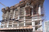 picture of highrises  - Stock image of highrise construction in Miami - JPG