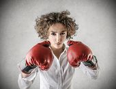 foto of pugilistic  - boxing girl - JPG