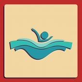 symbol of swimming pool for web and mobile application