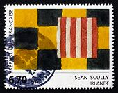 Postage Stamp France 1994 Abstract Squares, By Sean Scully