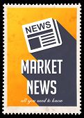 image of mass media  - Market News on Yellow Background - JPG
