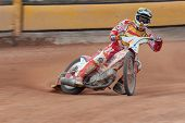 EGGENDORF,  AUSTRIA - APRIL 28 Patrik Nagy (#4 Hungary) places 5th in the Austrian speedway champion