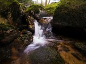 picture of cataract  - small cataract in the Harz Mountains of Germany - JPG