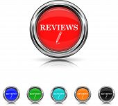 Reviews Icon - Six Colors Vector Set