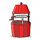 stock photo of wishing-well  - cartoon wishing well - JPG