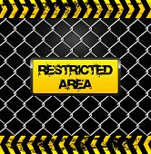 picture of restriction  - Conceptual illustration with wire fence - JPG