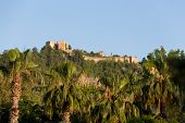 foto of cleopatra  - The castle in Alanya built on the hill above the beach of Cleopatra - JPG