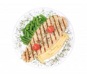 pic of pangasius  - Pangasius fillet grilled with vegetables - JPG